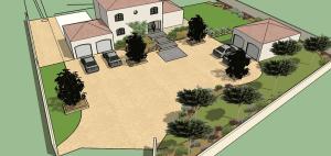 Projet de la cour en 3D